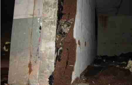 Dettaglio muro rivestito con Corkpan