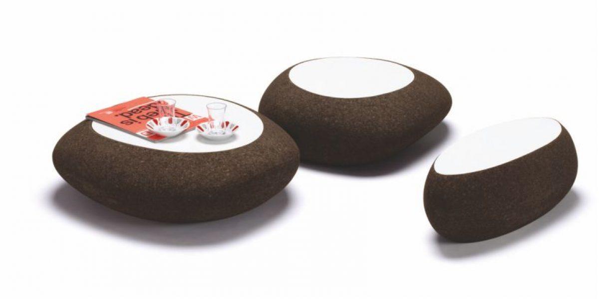 Corkliving è la gamma di complementi d'arredo realizzati in sughero tostato da Tecnosugheri