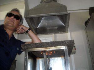 Prova di reazioen al fuoco sughero tostato Corkpan