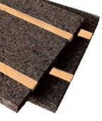 pannello cork-self zero con listelli si legno di faggio