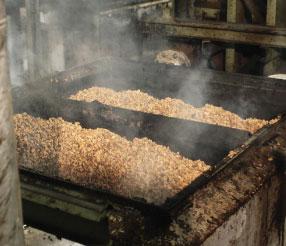 Il processo di tostatura del sughero per giungere al pannello Corkpan