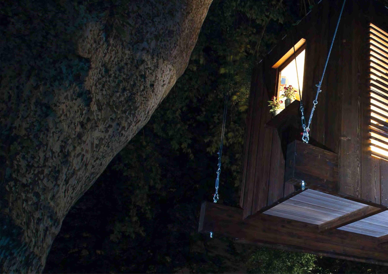 Le TreeHouse realizzate da Casa sull'Albero impiegano sughero Corkpan nell'isolamento delle pareti.