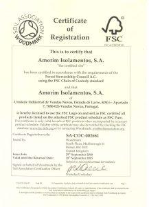 Certificato FSC Amorim sughero Corkpan