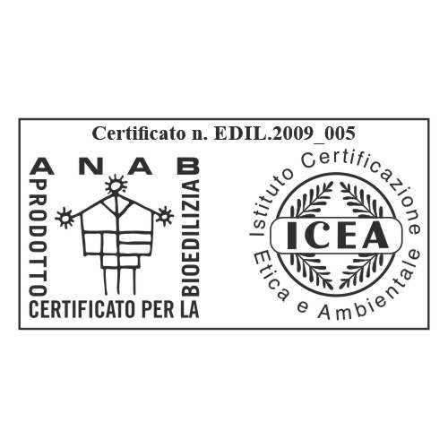 il sughero CORKPAN è certificato da ANAB e ICEA come prodotto per la bioedilizia