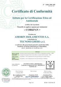 certificato corkpan icea-anab per la bioedilizia