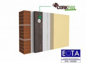 Sistema cappotto in sughero ETICS certificato ETAG004 di Tecnosugheri