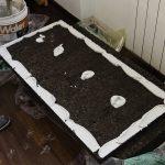 Preparazione dei pannelli in sughero Corkpan da posare sul soffitto