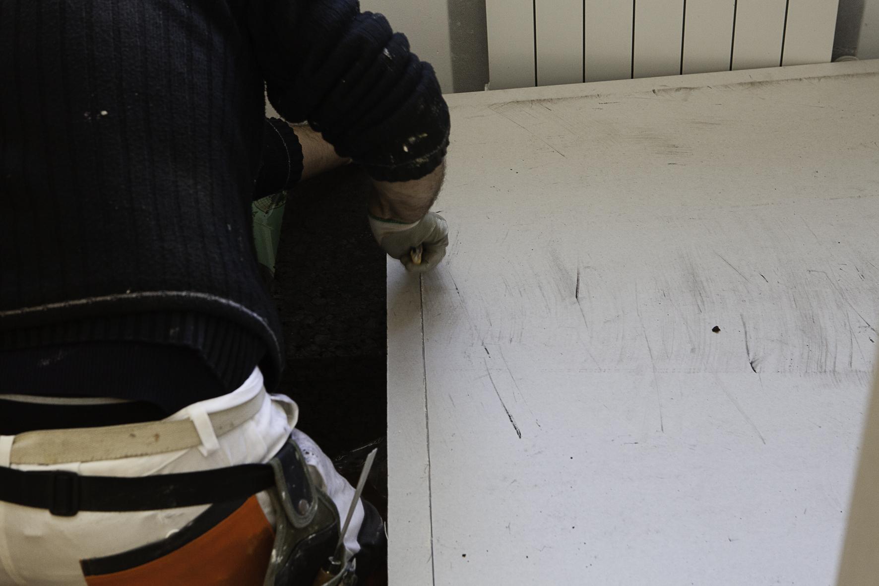 Preparazione dei pannelli Corkges in misura