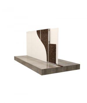 Scollegaemnto divisori in muratura con strisce di sughero Corkpan