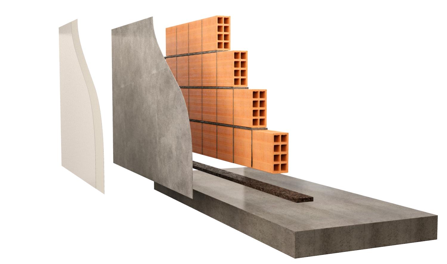Scollegamento divisori o muratura dettaglio