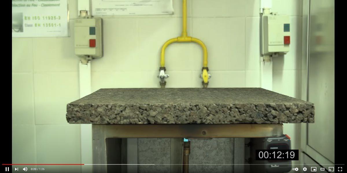 Reazione al fuoco del sughero Corkpan vs EPS