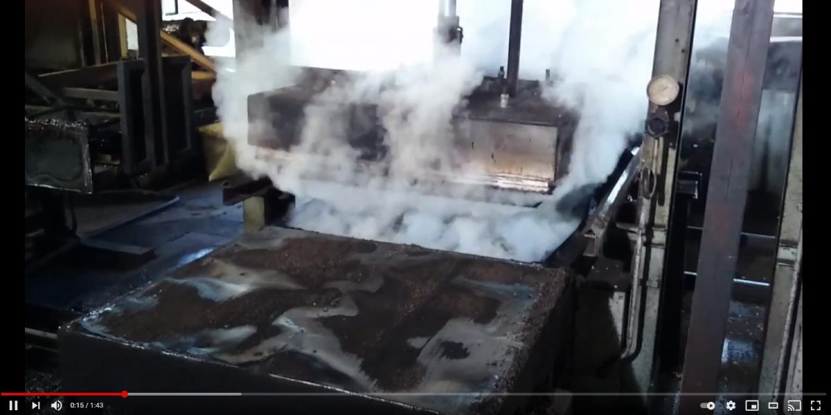 Processo di espansione del sughero CORKPAN video
