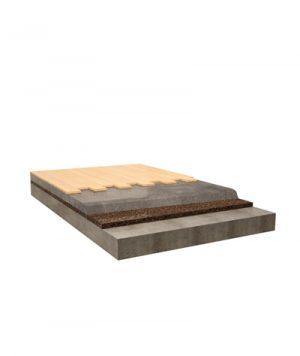 isolamento acustico in sughero pavimento flotttante in legno