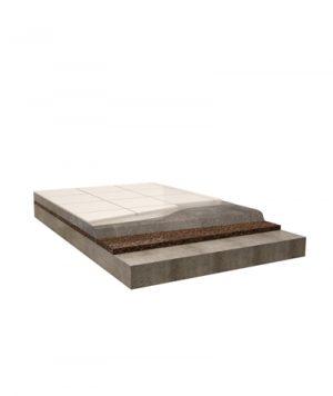 isolamento in sughero corkpan pavimento flottante co rivestimento ceramico