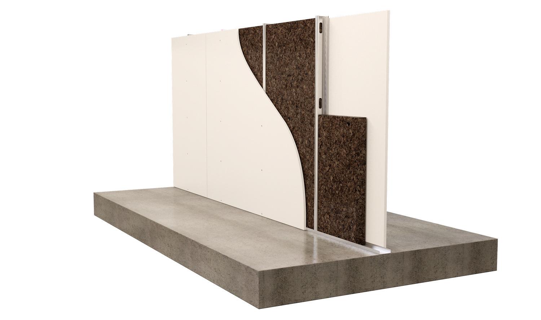 parete divisoria con doppia lastra a secco