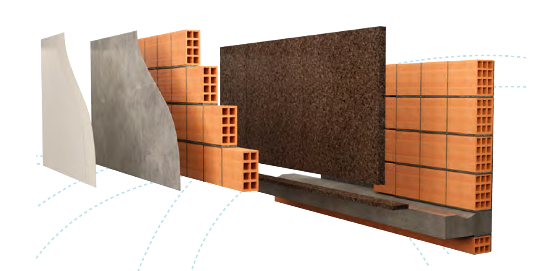 parete doppia con intercapedine dettaglio