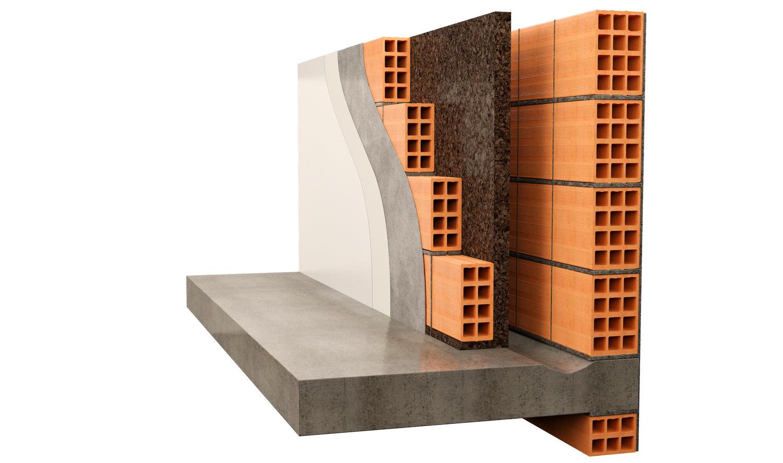 Isolamento intercapedine parete esterna con sughero Corkpan