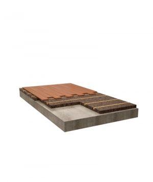 Isolamento e supporto per fissaggio di pavimenti inchiodati