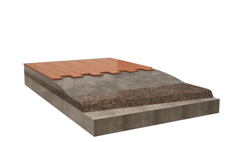 Massetti alleggeriti con sughero granulare Corkgran Tostato