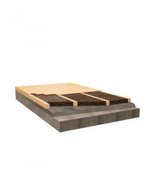 Isolamento termo-acustico tramite riempimento delle cassevuote sotto pavimento con sughero Corkpan