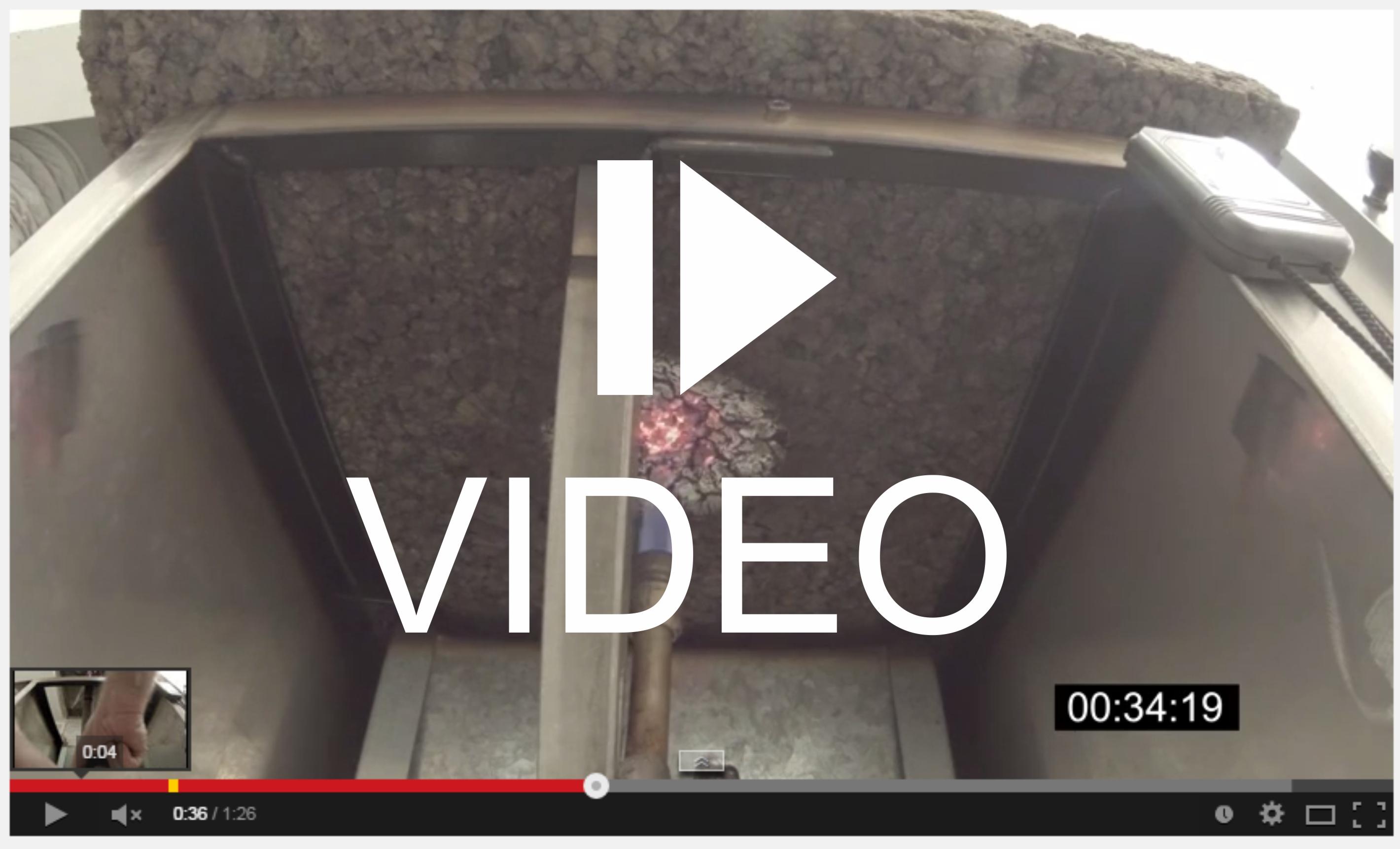 Video time-lapse della reazione al fuoco del sughero Corkpan