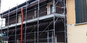 La riqualificazione energetica voluta dall'arch Stefano Gussago ha incluso il cappotto in sughero SecilVit Cork