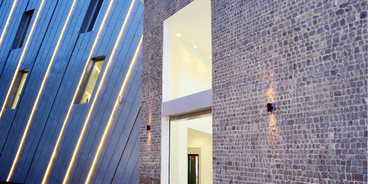 facciata ventilata isolata con sughero corkpan a Lagos