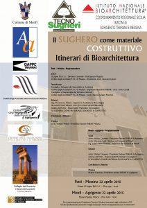 Tecnosugheri organizza due workshop inc ollaborazioen con INBAR in Sicilia, per parlare del sughero tostato come isolante per i climi caldi
