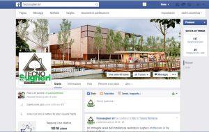 la pagina Tecnsougheri promuove le iniziative della'zienda e la cultura del sughero in edilizia