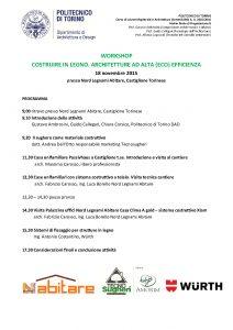 locandina workshop politecnico torino