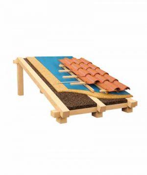 Isolamento con sughero corkpan tetto in legno