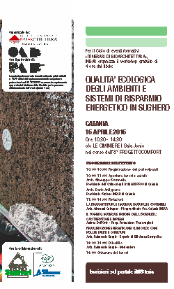 il 16 aprile a Catania, INBAR e Tecnosugheri organizzano un workshop tecnico nel corso della fiera PROGETTOCOMGORT