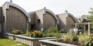 """Centro diurno """"Il Girasole"""" realizzato in legno e rivestito con sughero faccia a vista CORKPAN"""