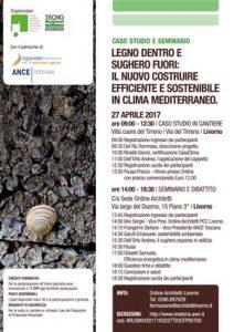 Tecnsougehri e l'Ord. degli Architetti di çivorno organizzano un seminario con visita in cantiere il 27.04.2017