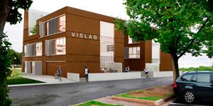 il centro di ricerce VisLab di parma è rivestito in sughero faccia a vista CORKPAN
