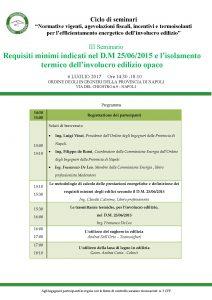 Tecnosugheri è tra i relatori del Seminario organizzato dall'Ordine degli Ingegneri di Napoli