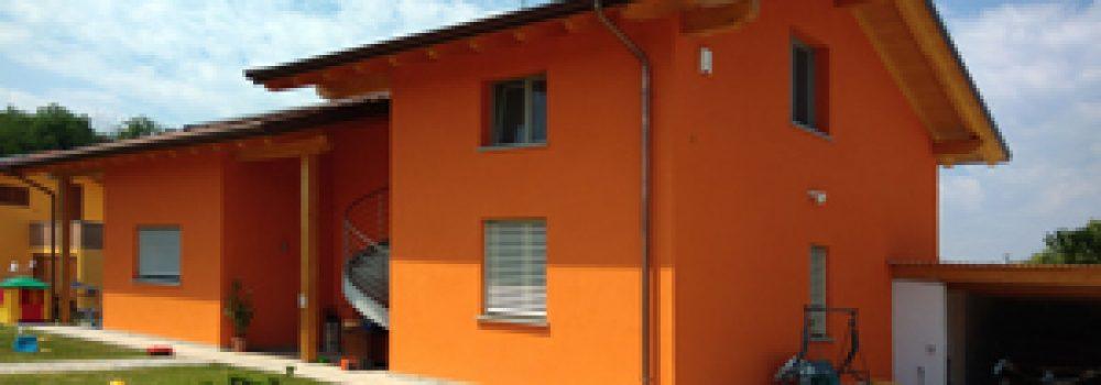 Edificio in struttra XLAM e cappotto in sughero espanso realizzato a Borgomanero