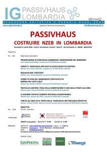 Tecnosugheri è sponsor del convegno organizzato fa IGP PassivHaus Lombardia a Mantova