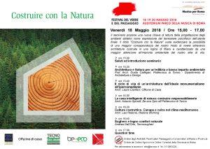 """Seminario """"costruire con la natura"""" Roma"""