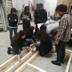 Prova pratica di assemblaggio parete in legno a telaio