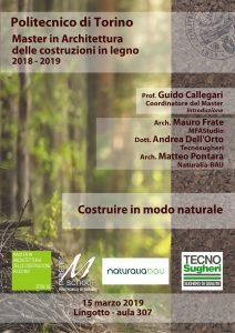 Tecnosugheri al master delle costruzioni in legno di Torino