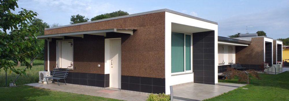 Edificio a Talmassons con sugehro corkpan MD facciata utilizzato con Bonus Facciate