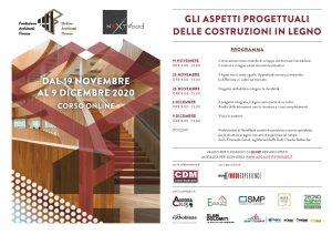 """Programma del corso """"gli aspetti progettuali delle costruzioni in legno"""" organizzato a OAPPC Firenze e Nextwood"""