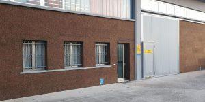 capannone industriale rivestito con sughero a vista CORKPAN MD FACCIATA