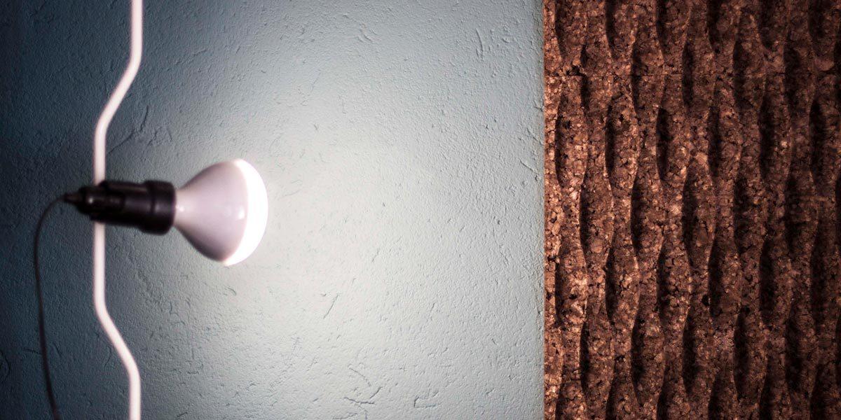 Il sughero CORKPAN a vista è un elemento di interior design che migliora il comfort acustico