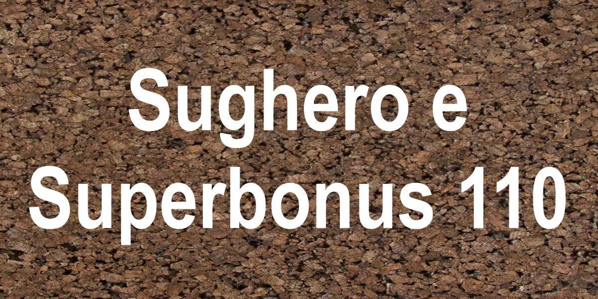 Analisi prezzi per superbonus 110 sughero CORKPAN