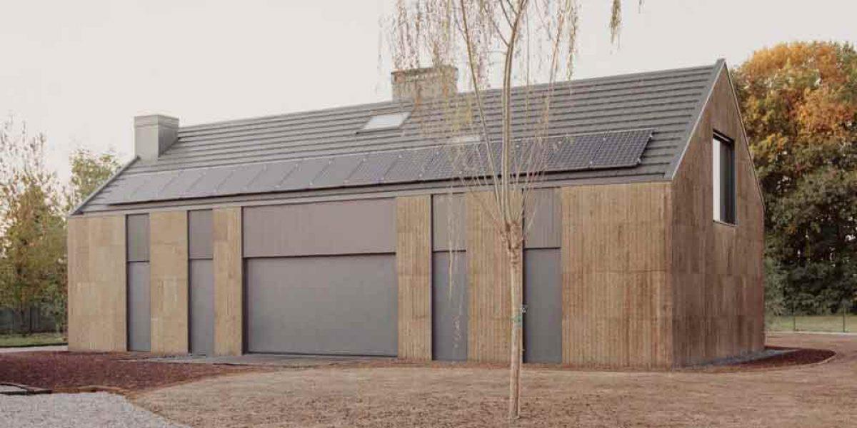 Casa Quattro a Magnano in sughero a vista CORKPAN di Luca Compri Architetti